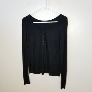 Brandy Melville | rib knit henley top